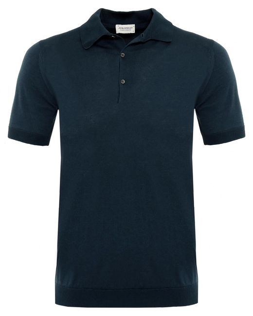John Smedley - Blue Standard Fit Adrian Polo Shirt for Men - Lyst