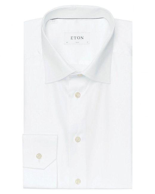 Eton of Sweden - White Slim Fit Solid Shirt for Men - Lyst
