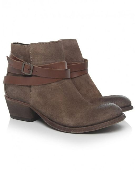 H by Hudson   Natural Horrigan Leather & Suede Boots   Lyst