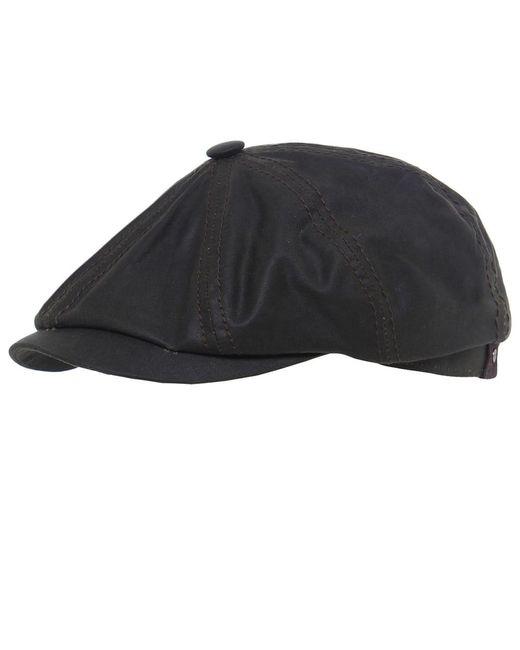 Stetson   Black Hatteras Waxed Cap for Men   Lyst