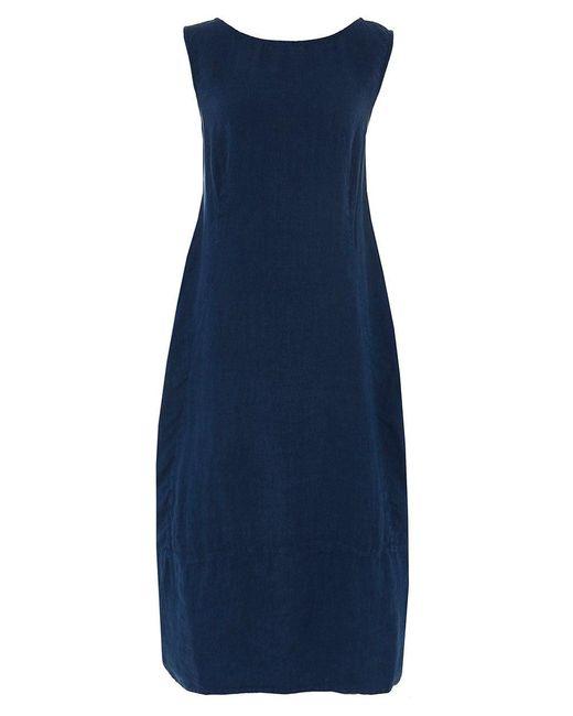 Grizas - Blue Linen Textured Dress - Lyst