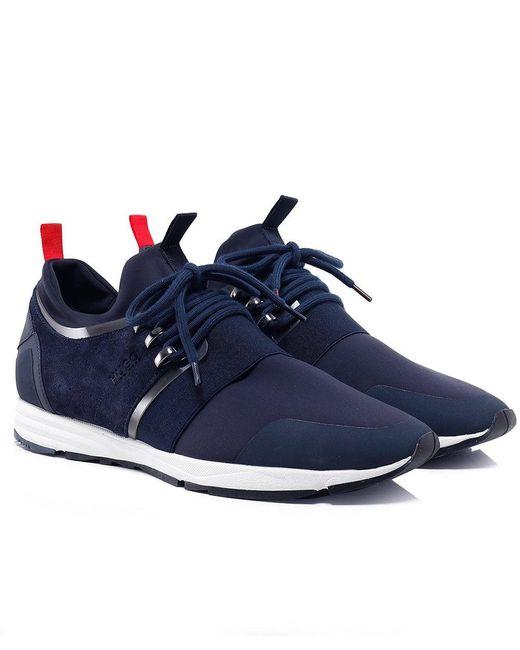 HUGO | Blue Hybrid_runn_mxsc Trainers for Men | Lyst