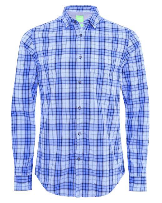 BOSS Green | Blue Regular-fit Check Shirt In Cotton: 'c-briar' for Men | Lyst