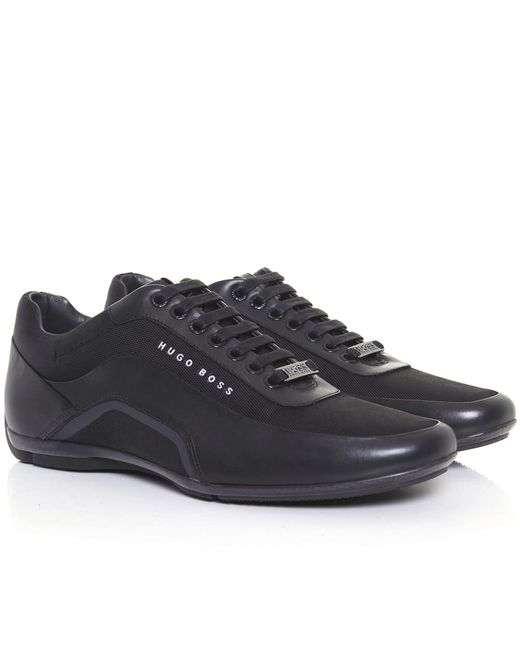 boss hb racing trainers in black lyst. Black Bedroom Furniture Sets. Home Design Ideas