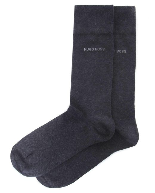 BOSS | Gray Two Pack Of Socks for Men | Lyst