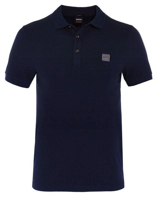BOSS - Blue Slim Fit Passenger Polo Shirt for Men - Lyst