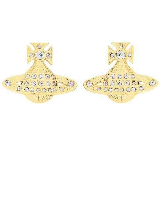 Vivienne Westwood - Metallic Mini Bas Relief Earrings - Lyst