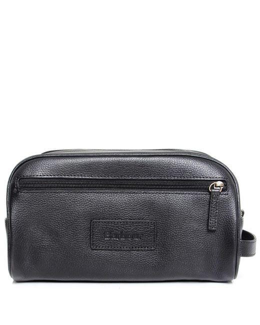 Barbour | Black Leather Wash Bag for Men | Lyst