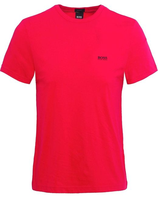BOSS - Pink Regular Fit Crew Neck Tee T-shirt for Men - Lyst