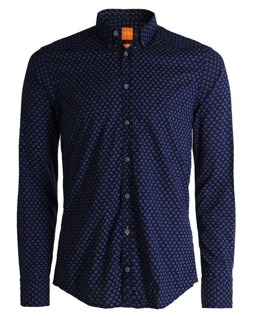BOSS Orange   Blue Slim Fit Chill Paisley Shirt for Men   Lyst