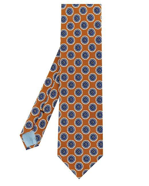 Stenstroms - Brown Silk Patterned Tie for Men - Lyst