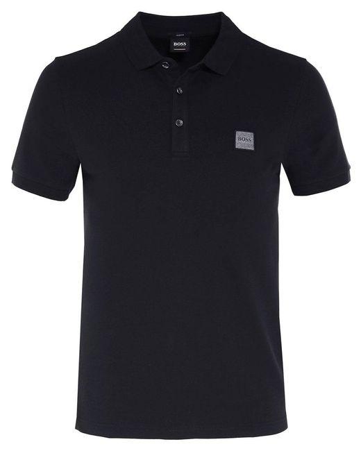 BOSS by Hugo Boss - Black Slim Fit Passenger Polo Shirt for Men - Lyst