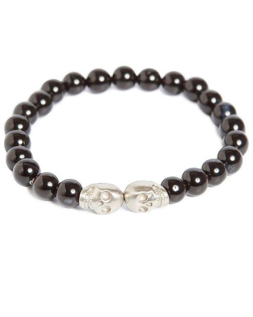 Simon Carter - Multicolor Onyx Double Skull Bead Bracelet for Men - Lyst