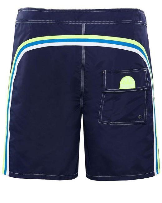 Sundek - Blue Long-length Board Shorts for Men - Lyst