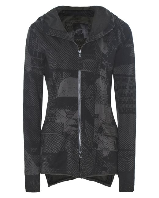 Rundholz - Gray Anthra Print Hooded Jersey Jacket - Lyst