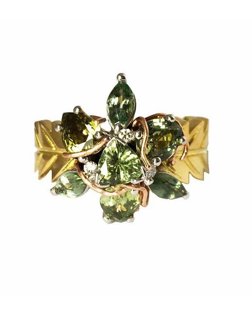 Sapphire Collective Jewelry - Metallic Sativa Bud Gold Marijuana Leaf Ring - Lyst
