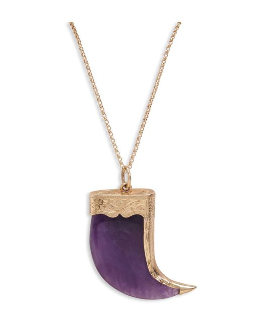 Zeca Seabra   Metallic Purple Amethyst Horn Necklace   Lyst