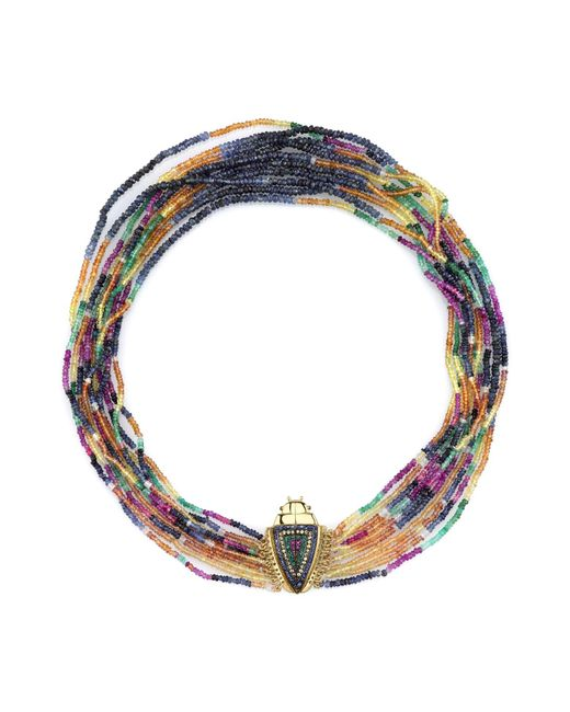 Daniela Villegas | Blue Arcoiris Rainbow Necklace | Lyst