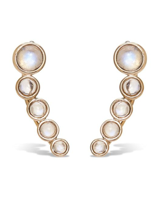 Noor Fares | Gray Tilsam Opal Cabochon Earrings | Lyst