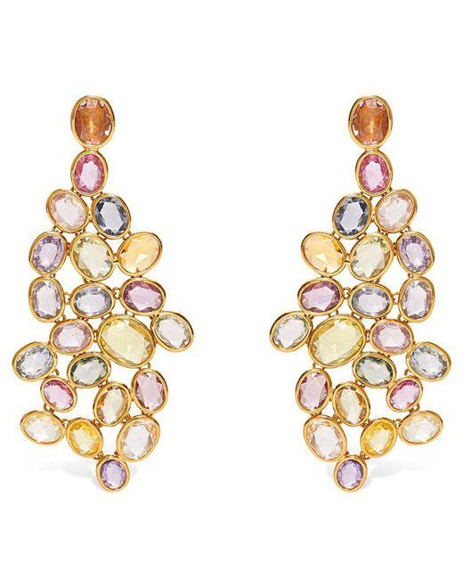 Sidney Garber - Metallic Sapphire Wave Yellow Gold Earrings - Lyst
