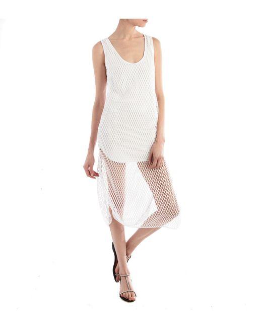 Alexandre Vauthier - White Fishnet Tank Dress - Lyst