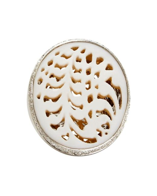 Wilfredo Rosado | White Lace Cameo Ring | Lyst