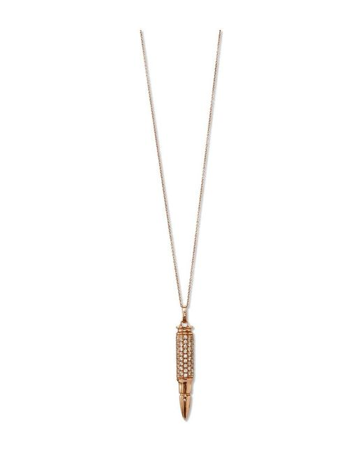 SHAY - Metallic Diamond Bullet Necklace - Lyst