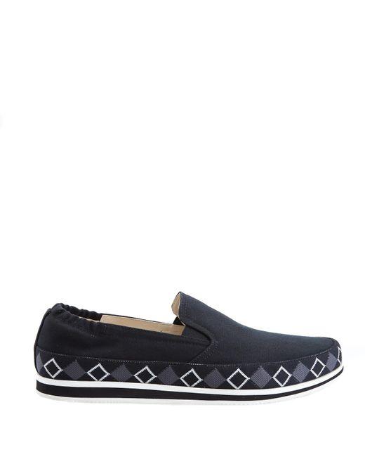 Prada - Technical Black Slip On Sneaker - Lyst