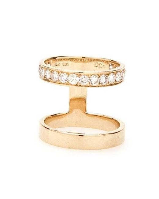 Campbell - Yellow Double Stack Ring - Lyst
