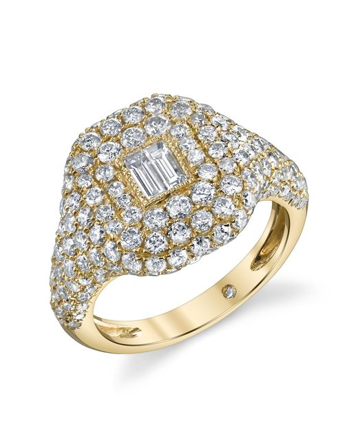 SHAY | Metallic Diamond Yellow Gold Pinky Ring | Lyst