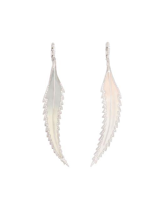 Sidney Garber - Metallic Feather Enamel Earrings - Lyst