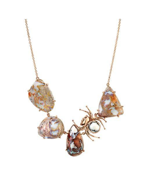 Daniela Villegas - Metallic Mexican Goddess Opal Necklace - Lyst
