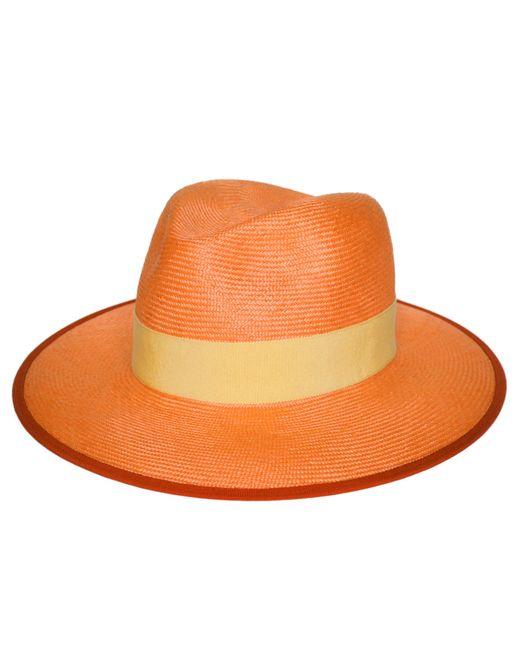 D'Estree - Orange Sadie Fedora Straw Hat - Lyst