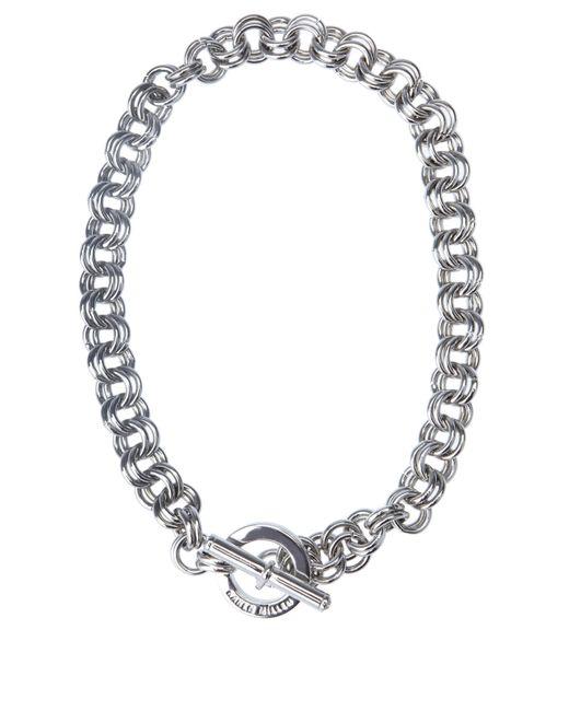 Karen Millen   Metallic Encrusted Bar & Hoop Necklace   Lyst