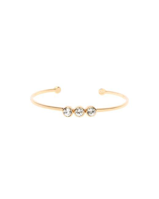 Karen Millen | Metallic Crystal Dot Cuff - Gold Col | Lyst