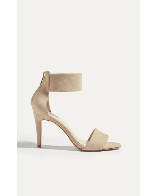 Karen Millen | Natural Cuff Sandal - Nude | Lyst