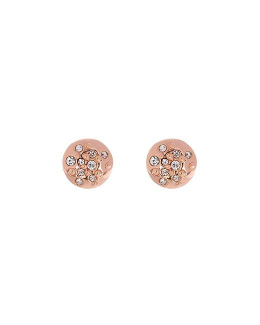 Karen Millen   Metallic Crystal Sprinkle Stud Earrings - Rose Gold Colour   Lyst
