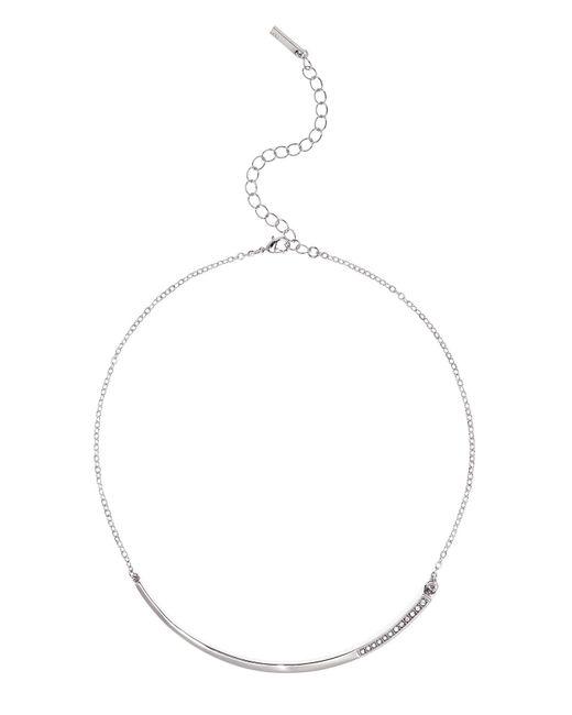 Karen Millen | Metallic Crystal Shard Choker - Silver Colour | Lyst