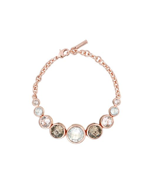 Karen Millen | Metallic Swarovski Teardrop Bracelet - Rose Gold Colour | Lyst