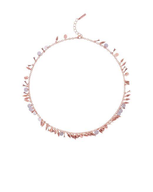Karen Millen - Metallic Sunset Drama Charm Necklace - Lyst