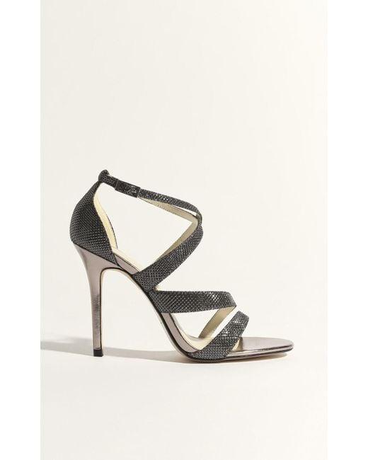 3287160c4c3 Karen Millen - Multicolor Glitter Strappy Stiletto Heel Sandals - Lyst ...