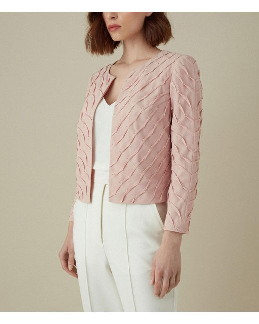 Karen Millen Cropped Tailored Jacket Lyst