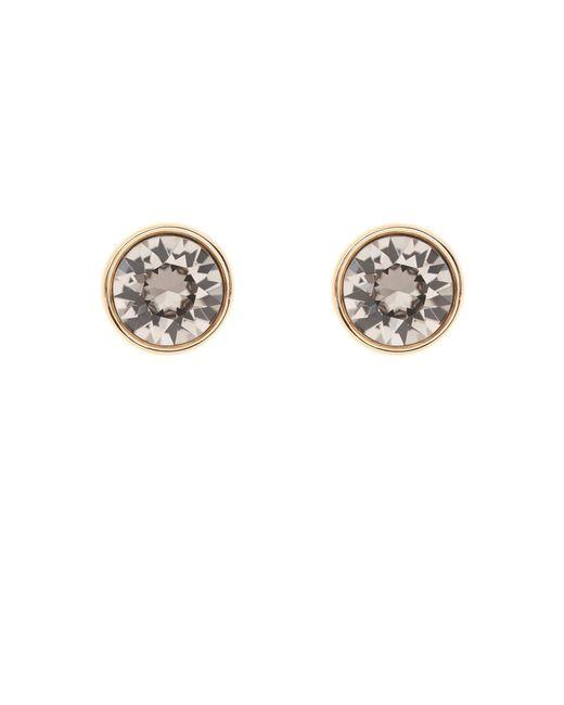 Karen Millen - Metallic Round Stud Earrings - Gold Colour - Lyst