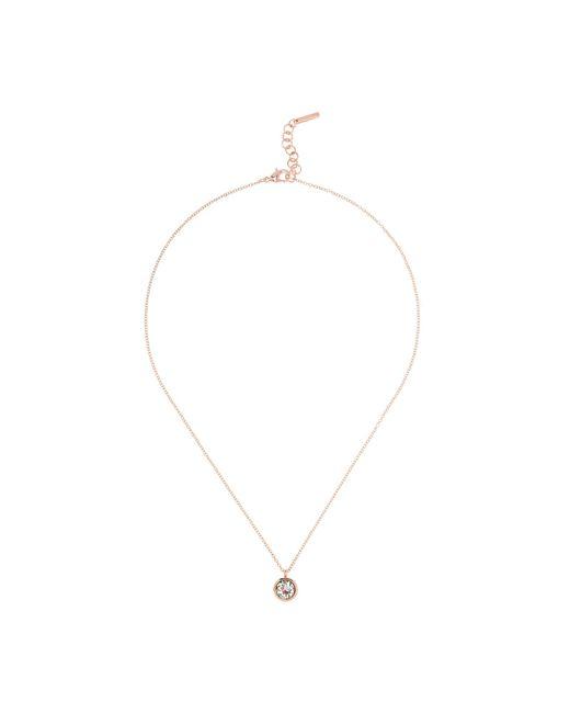 Karen Millen - Pink Crystal Dot Necklace - Rose Gold - Lyst