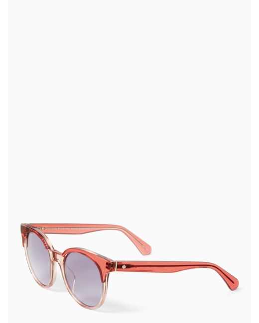 Kate Spade - Pink Abianne Sunglasses - Lyst