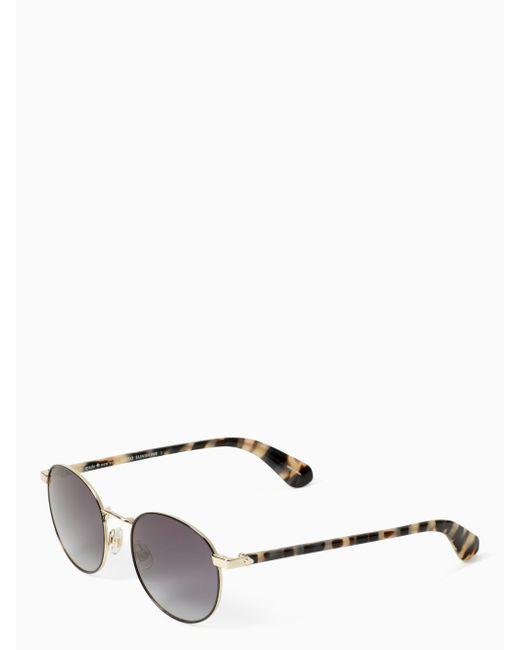 Kate Spade - Black Adelais Sunglasses - Lyst