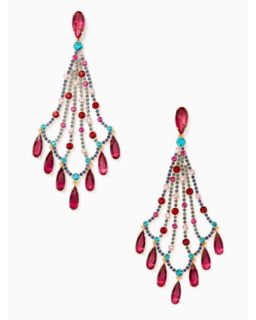 Kate Spade | Multicolor Cascade Statement Earrings | Lyst