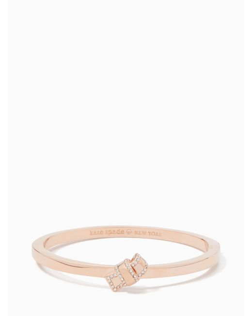 Kate Spade | Multicolor All Tied Up Pave Knot Bangle | Lyst