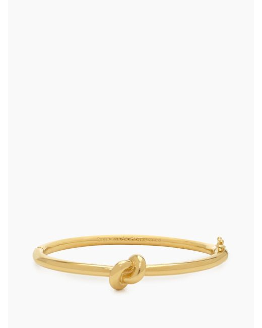 Kate Spade - Metallic Sailor's Knot Hinge Bangle - Lyst