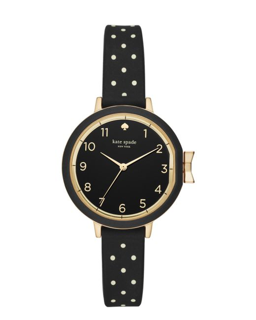 Kate Spade - Multicolor Park Row Polka Dot Silicone Watch - Lyst